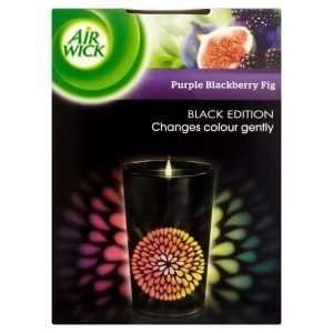 Air Wick Black Purple Blackberry Fig Tuoksukynttilä