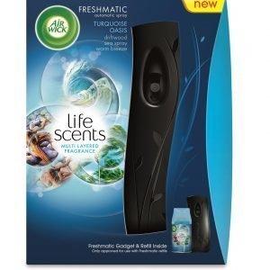 Airwick Freshmatic Max -ilmanraikastin +  Turquoise Oasis 250 Ml Täyttöpullo