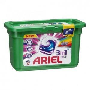 Ariel 3in1 Color Pyykinpesunestetabletti 12 Kpl