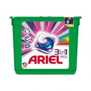 Ariel 3in1 Pods Color Pyykinpesutabletit 24 kpl