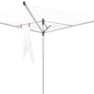 Brabantia Lift-O-Matic pyykinkuivausteline suojapussilla 50 m hopea
