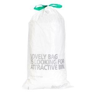 Brabantia Perfectfit Roskapussit Valkoinen 20 L 20 Kpl