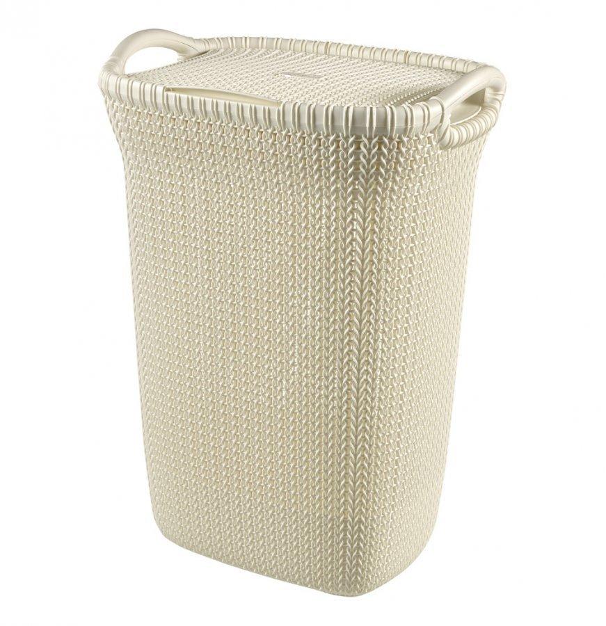 Curver Knit Pyykkikori Luonnonvalkoinen 57 L