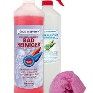 Hygieneprotect Kylpyhuoneen Puhdistusaine 3-Osainen Setti Roosa
