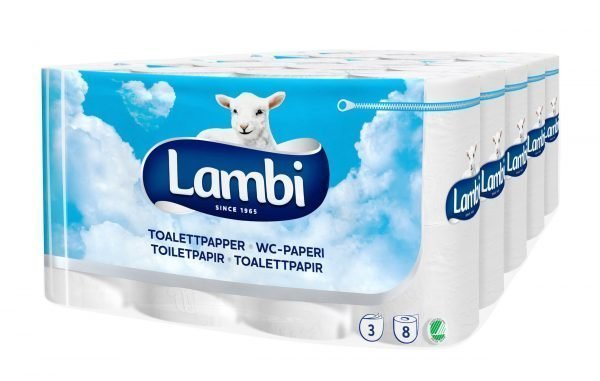 Lambi Toilet 8 Rll X 5 Pkt Valkoinen