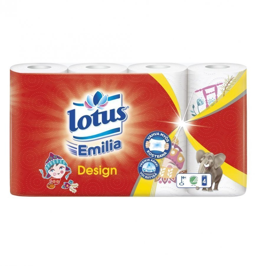 Lotus Emilia Talouspyyhe Design 4 Rullaa