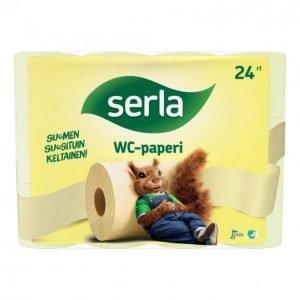 Serla Wc-Paperi Keltainen 24 Rullaa