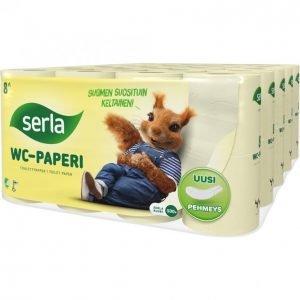 Serla Wc-Paperi Keltainen 8 Rullaa