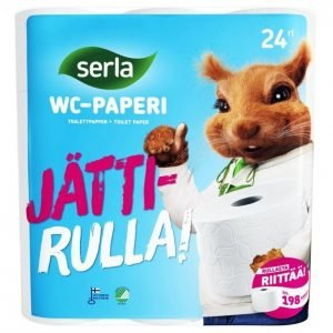 Serla Wc-Paperi Valkoinen 24 Rullaa