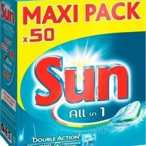 Sun All-In-One Konetiskitabletit 50 Kpl